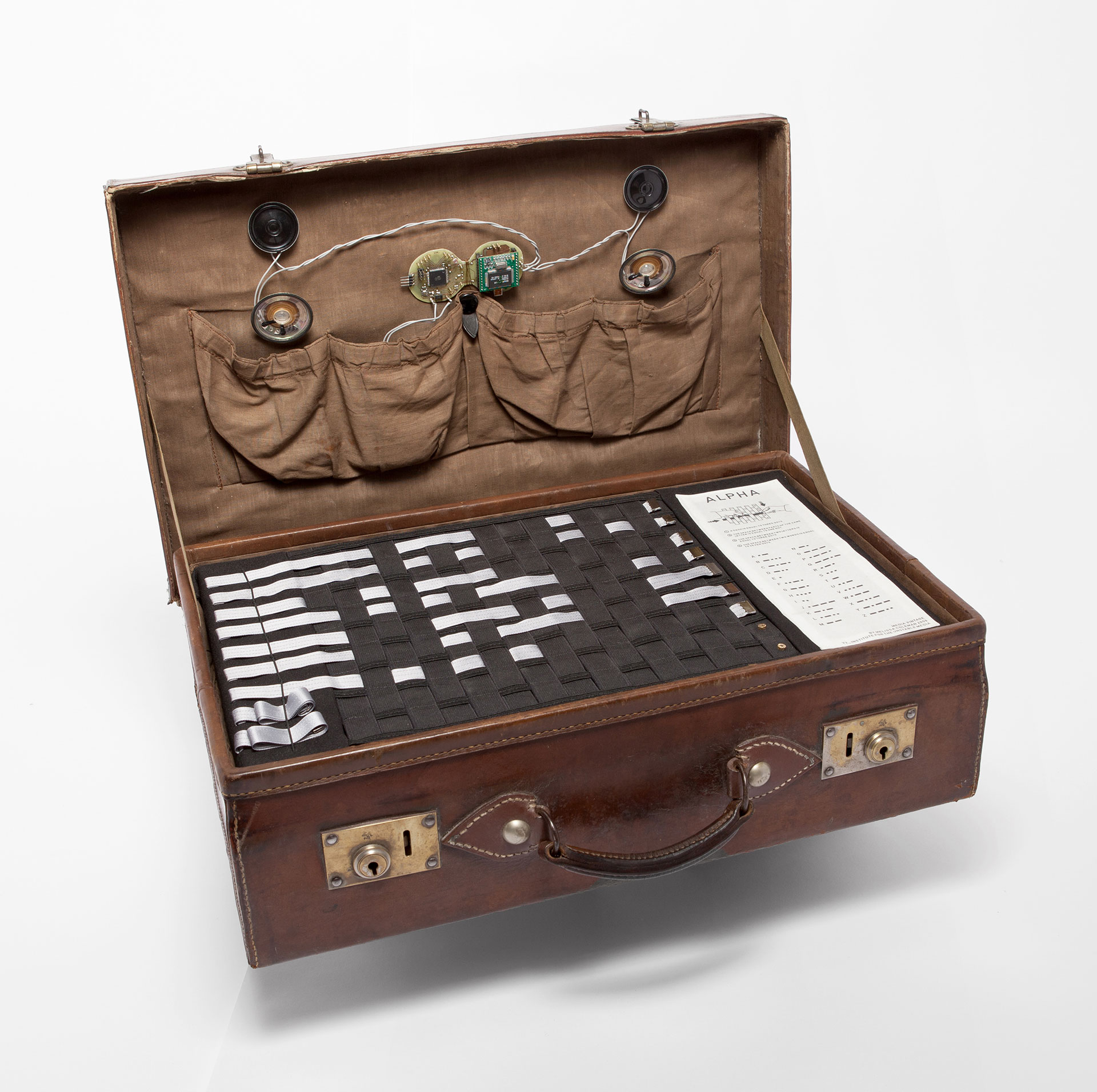 suitcase with morse